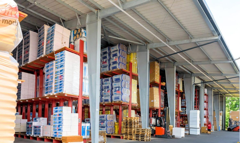Ciężkie towary można łatwo przechowywać na europaletach
