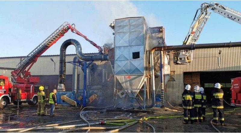 KPPD: Pożar w tartaku w Drawsku Pomorskim